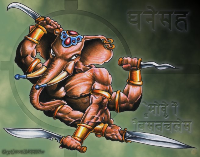 Warrior Ganesha, by Eric Hilliker
