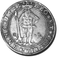 1629 silver thaler from the German state of Brunswick-Wolfenbuttel