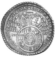 1719 silver reichsthaler of Wolfgang von Schrattenbach