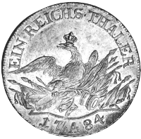 Prussian silver Friedrichsthaler of 1784